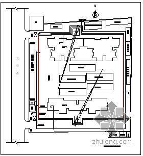 淄博某高层商住楼临水施工现场平面布置图(附计算)