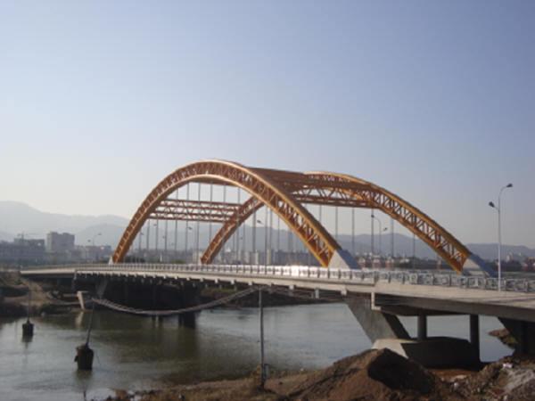 兴隆大桥及接线道路工程CAD图纸144张(中承式钢管拱桥主桥等截面梁引桥给排水)