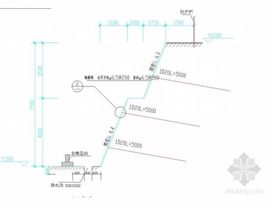 [山东]土钉墙基坑支护施工图(含计算书)