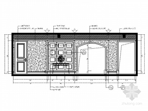[常州]古典欧式三层别墅样板房装修图(含效果)过厅立面图