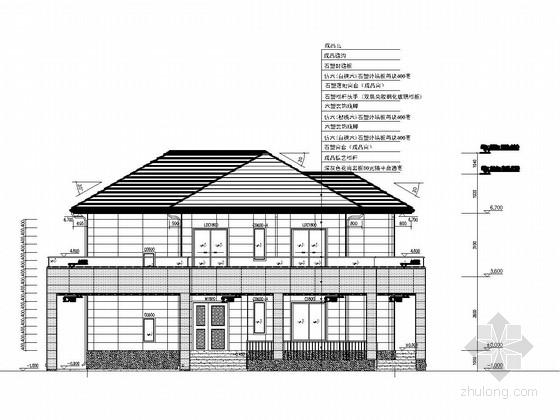BLM结构体系别墅结构施工图(含建筑施工图)