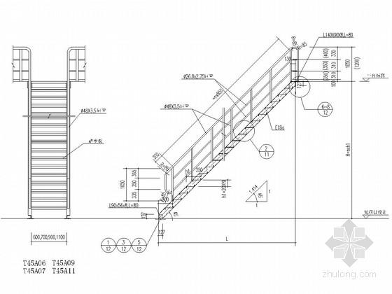 化工设备操作钢平台爬梯和栏杆图