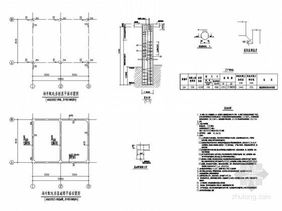 框架结构配电房结构施工图