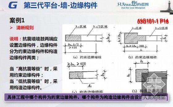 广联达第三代平台整体解决方案之中高级应用培训课件293页(软件算量计价定额规范讲解)-墙-边缘构件 案例