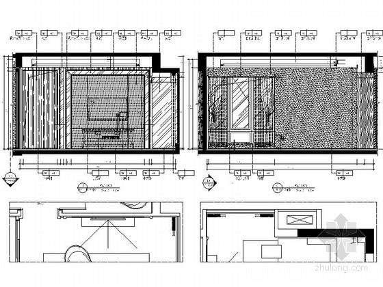 [湖北]现代风三居室样板间室内装修图(含效果)立面