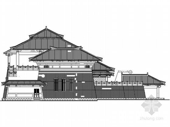 [江西] 仿古3层单檐道学院设计施工图