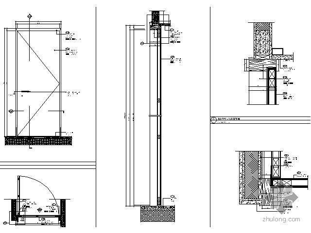 普通标准单扇木门详图