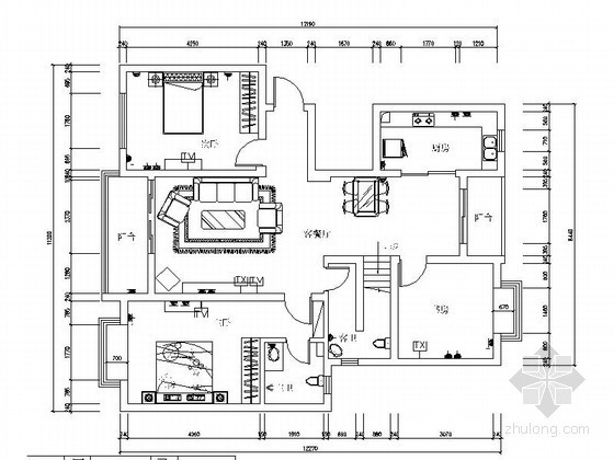 三套家装户型平面布置图