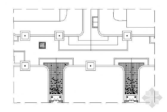 居住区铺装平面图(27)-4