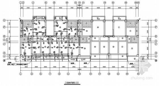 底框结构住宅楼结构施工图(六层 廉租房 坡屋面)