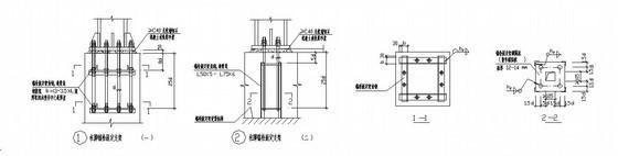 某柱脚锚栓固定支架节点构造详图