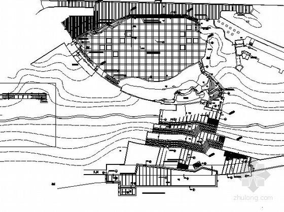 某滨江广场铺装设计施工图