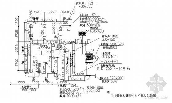某医药厂房洁净室空调图