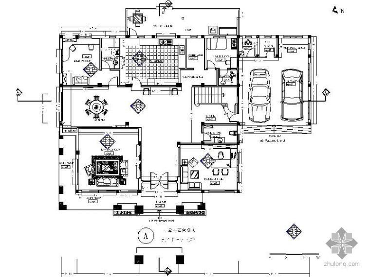 490㎡泰式风格二层别墅装修图