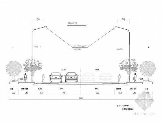 [湖南]30-37m宽市政道路施工图78张(排水管线交通照明绿化)