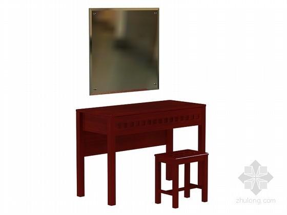 红木梳妆台3D模型下载