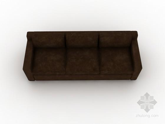 皮质沙发3d模型