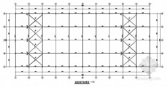 [辽宁]钢结构厂房结构施工图(独立基础 带吊车)