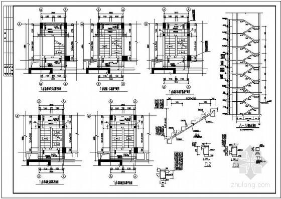某框剪住宅结构楼梯节点构造详图