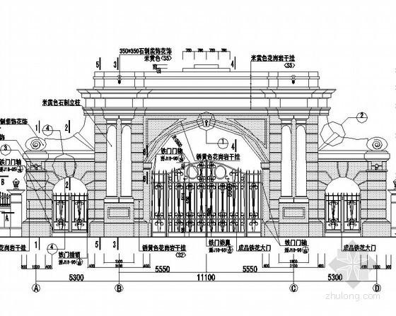 欧式风格大门设计图
