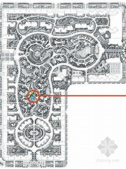 居住区重点节点景观手绘效果图方案