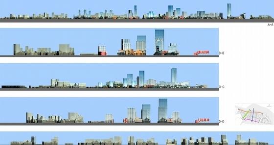 滨江中央商务区概念性规划立面图