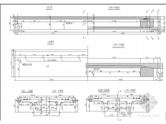 后张法预应力32m简支箱梁竣工图42张(直线梁 曲线梁)