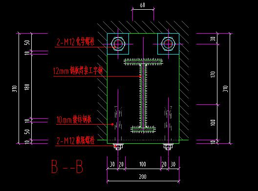 钢结构玻璃雨蓬施工图(含大样)