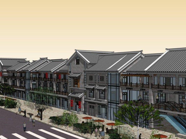 商业街中式风格三层建筑方案设计(SU模型)-20150805_223509_064