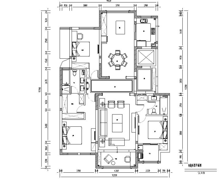 Manhattan|紫金城美式轻奢住宅设计施工图(附效果图)