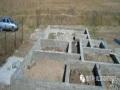 轻钢集成房屋地基建造过程