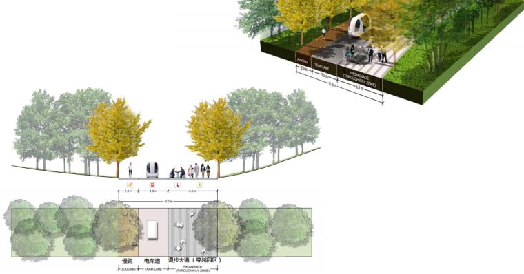 [上海]南站绿轴景观方案设计(现代风格)A-10剖面图