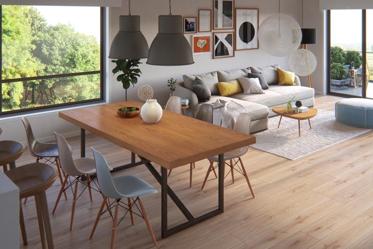 别致且优雅的北欧风公寓_3