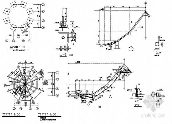 某木结构八角亭结构施工图
