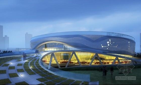 海螺形钢板外墙运动会所建筑设计方案文本