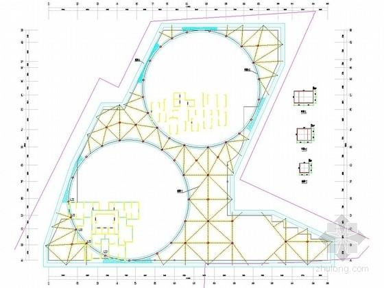 [湖北]10米深基坑灌注桩加双环梁内支撑支护施工图