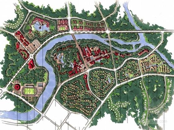 [安徽]世外桃源式的高山温泉度假产业园景观规划设计方案