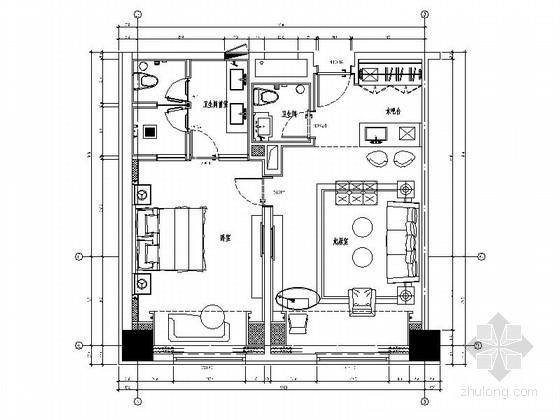 精品酒店高级现代风格套房室内装修施工图(含效果)