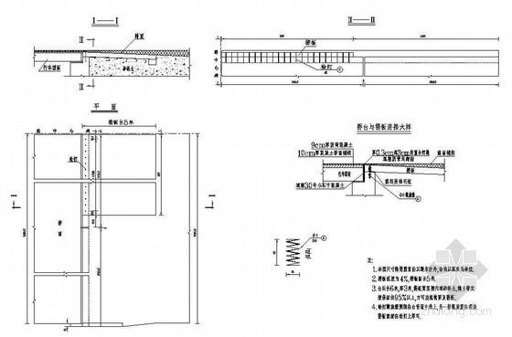 1-8m城市桥桥头搭板一般构造节点详图设计