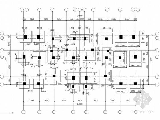 [海南]三层异形柱框架结构农村住宅楼结构施工图