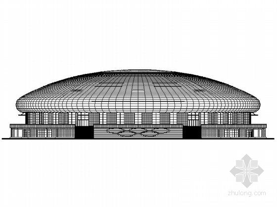 [吉林]3层市级圆顶体育馆建筑施工图(知名设计院)