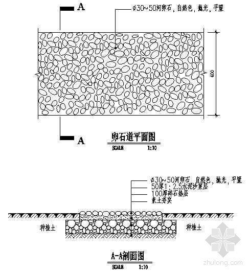 卵石小径详图