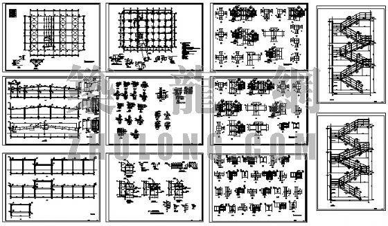多层钢结构厂房结构图