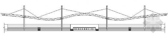 膜结构体育场看台建筑施工图