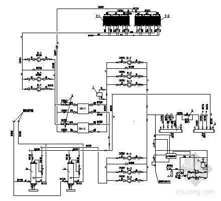 某酒店大厦制冷机房流程图
