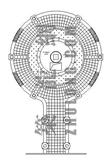 某广场水景跌水施工详图-2