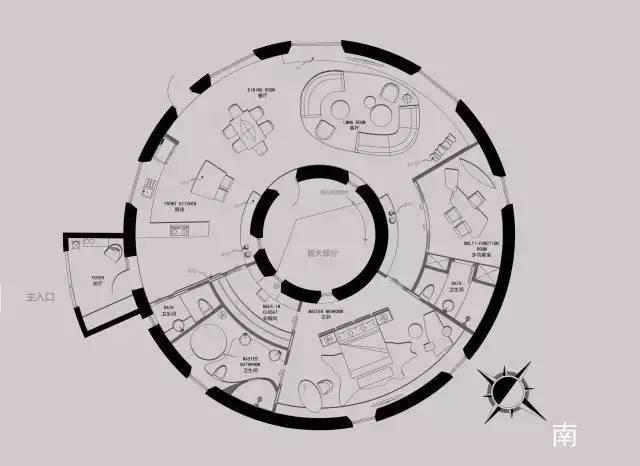 深度解析!一个圆形户型的15个高超方案!_11