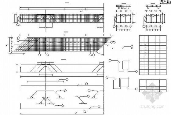 20米后张法预应力空心箱梁桥台盖梁钢筋构造节点详图设计