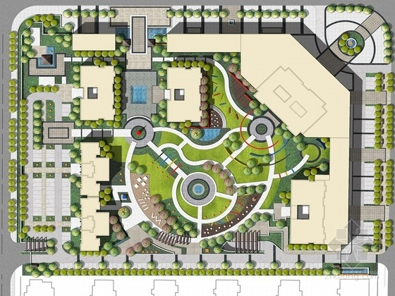 [河南]波普艺术风格别墅景观规划设计方案