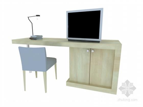 小学习桌3D模型下载